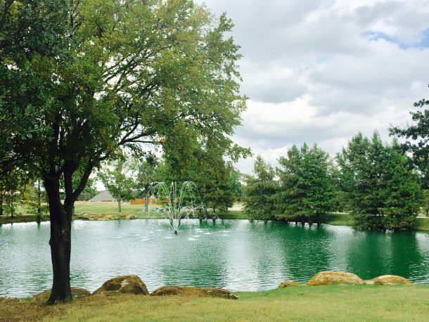 Wildridge-OakPoint-pond-fountain