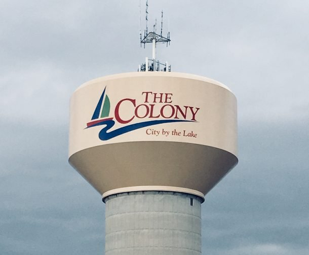 The_Colony_water_tower