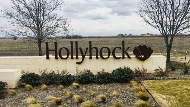 Hollyhock-entrance-sign