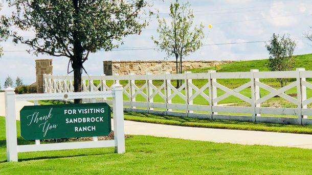 Sandbrock_Ranch_Aubrey_thank_you_for_visiting_sign