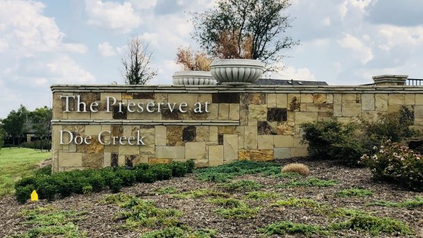 The_Preserve_at_Doe_Creek_Prosper_entrance_sign